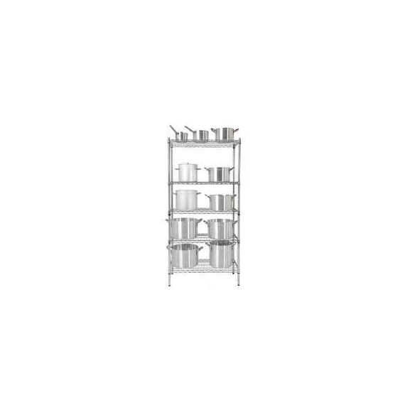 Chrome Shelving Set A, W910 x D455 x H1800