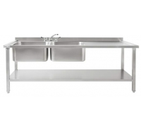 DBLD1800 Large Double Sinks, Left Drainer