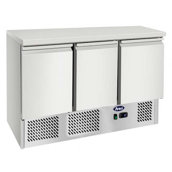 ESL3851GR 3 Door Counter Fridge