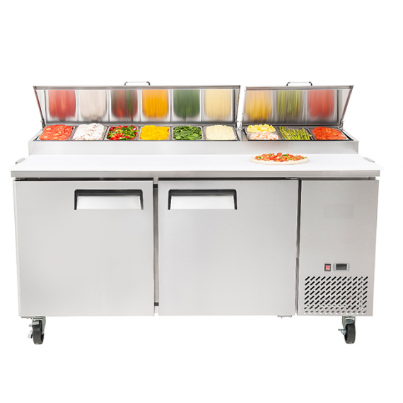 MPF 8202GR Professional Pizza-Salad Prep Fridge
